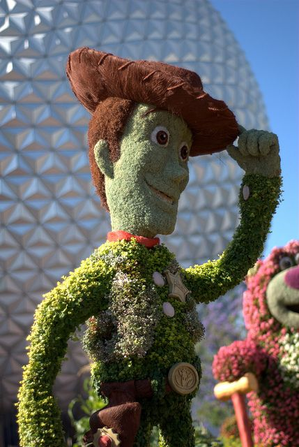 Woody @ Epcot International Flower and Garden Festival