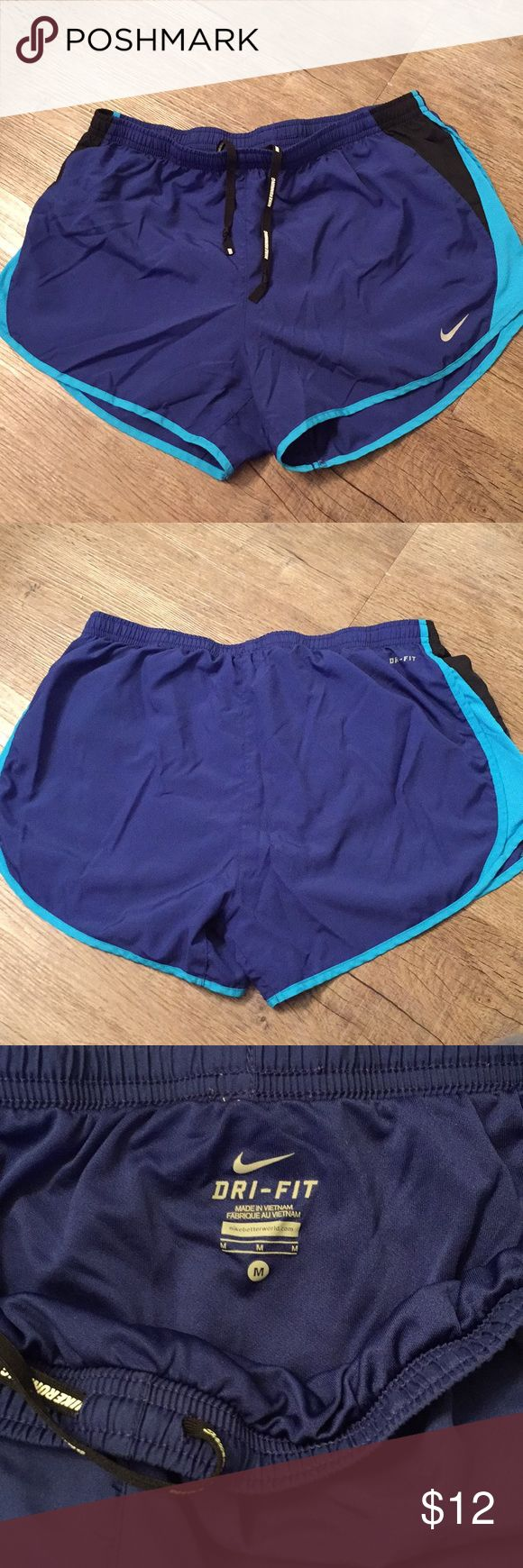 Nike Dri-Fit Running Shorts Super comfy athletic shorts with elastic waistband and built-in briefs. Nike Shorts