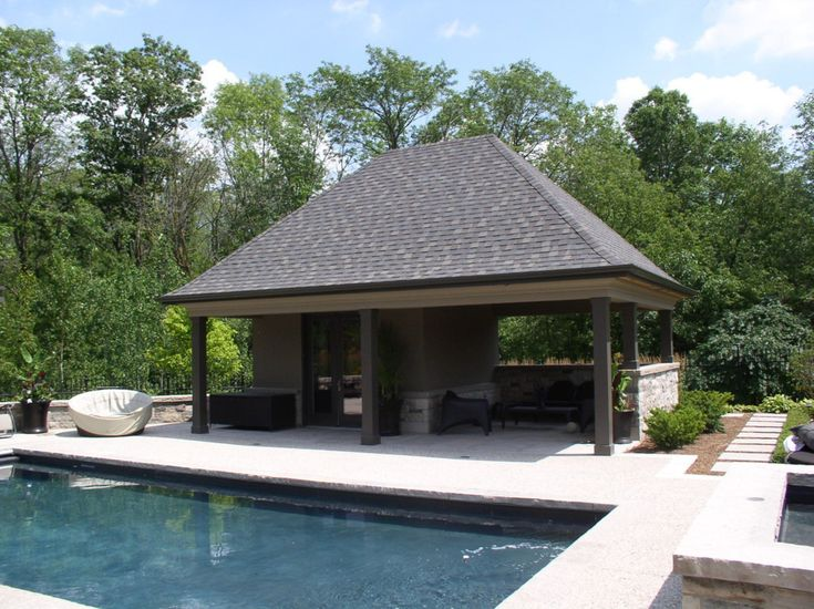 32 best for the home outdoors images on pinterest for Pool houses and cabanas