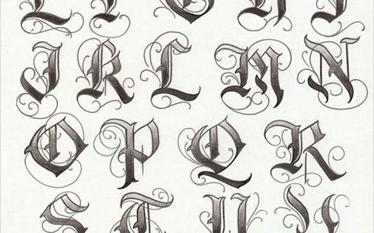 tattoo letter fonts artist enrique castillo alphabet list puppet 12274