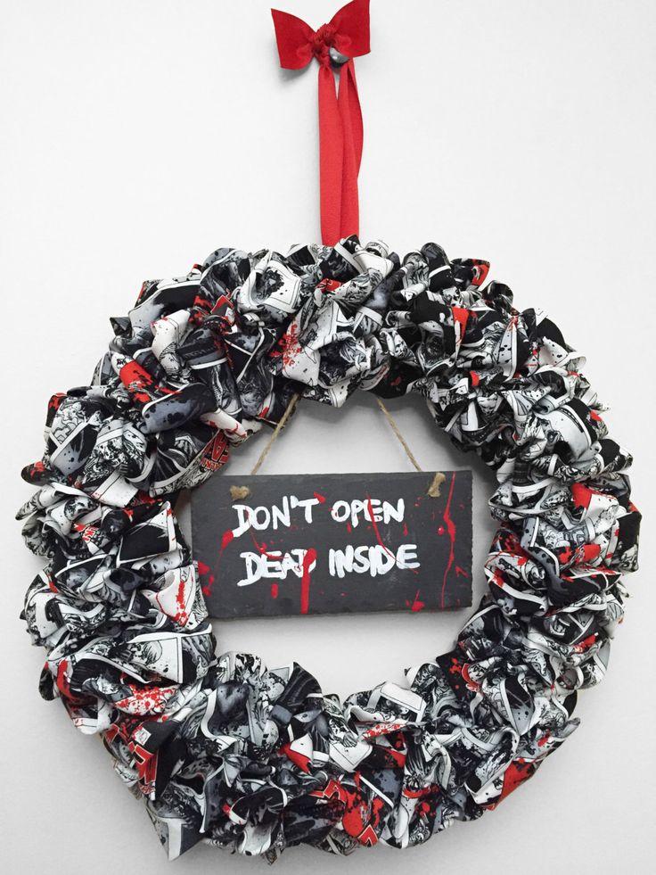 Walking Dead Wreath by CosmicZombies on Etsy https://www.etsy.com/listing/225507838/walking-dead-wreath