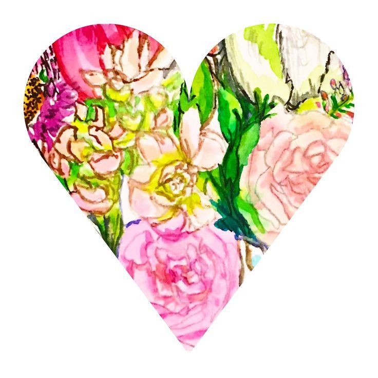Blooming heart, Carol Clough