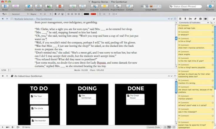Using Scrivener to organize writing and productivity, with downloadable templates.