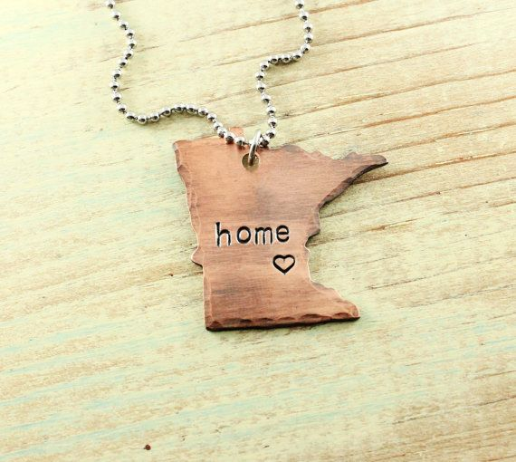 Home is where the heart is  home necklace  by woobiebeans on Etsy, $29.00
