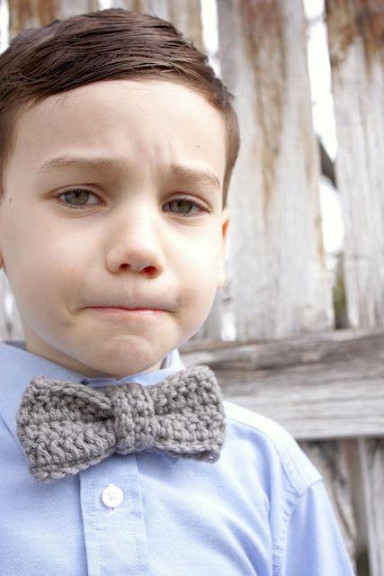 crochet bow tie- great pattern!