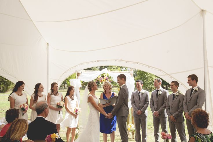 This 11.5m x 8.5m Capri Marquee created the perfect backdrop for this gorgeous couple to exchange vows. Congratulations Leanne and Ricky! www.topcover.co.nz