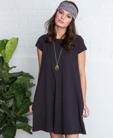 BASIC ORGANIC T-SHIRT DRESS | Basic T-Shirt Dress | Dress with Pockets | Soul Flower