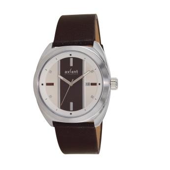 Axcent of Scandinavia: Reloj de cuero marrón y esfera combianda en crema y marrón.  http://www.tutunca.es/reloj-racer-marron-y-crema