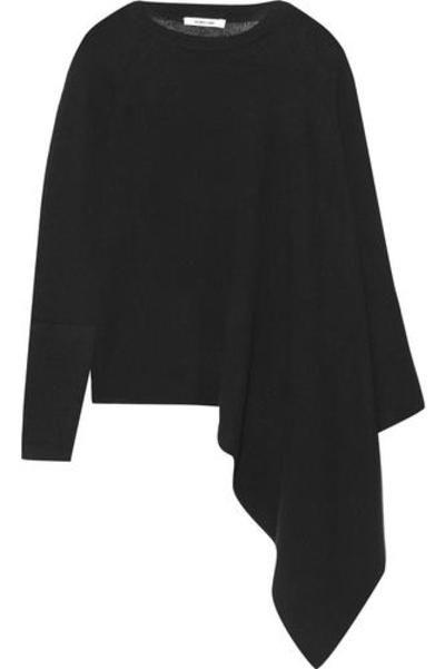 Asymmetric ribbed cashmere poncho #jacket #covetme #helmutlang