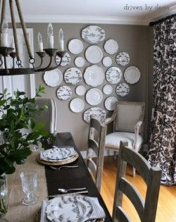 Love this! Neutral plate wall