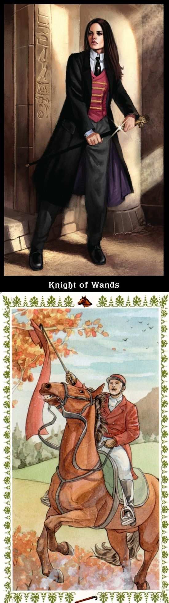 Knight of Wands: passionate pursuit of a vision and recklessness (reverse). Steampunk Tarot deck and Romantic Tarot deck: how to do tarot cards, free tarit vs free tarot oracle. Best 2018 predictions anchor chart and halloween.