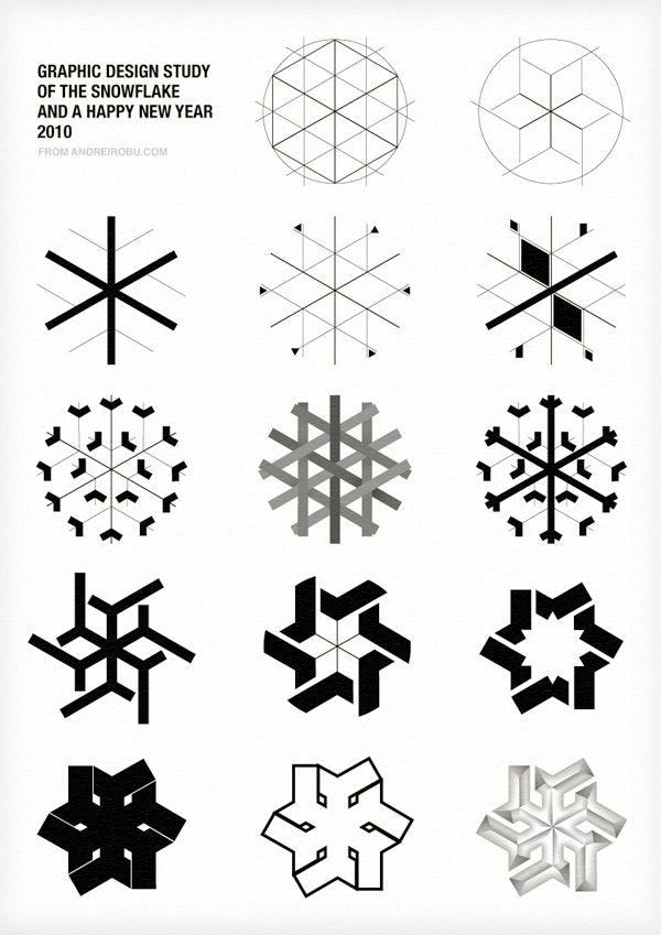 Graphic Design History of the Snowflake. I could pour over this stuff for hours.