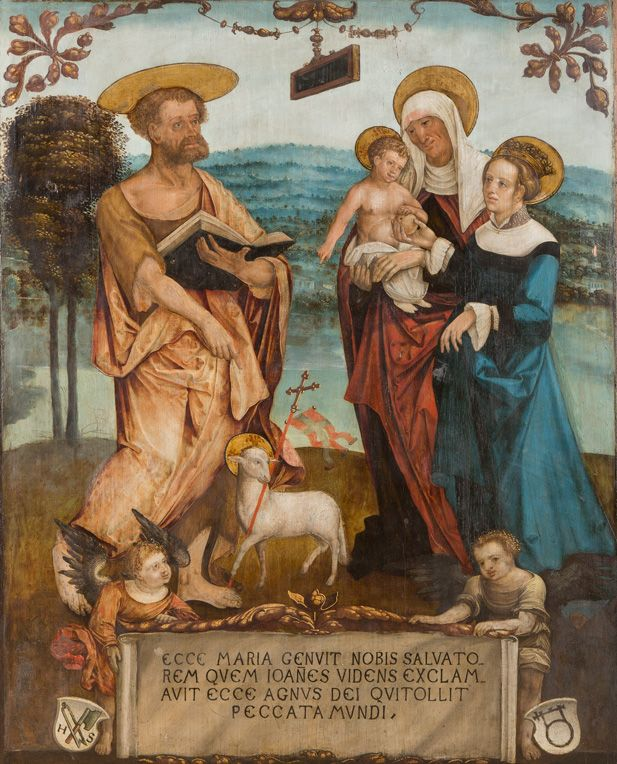 Hans Suss von Kulmbach - John the Baptist St. Anne,Virgin Mary and Child,...16th century | History of fashion in…