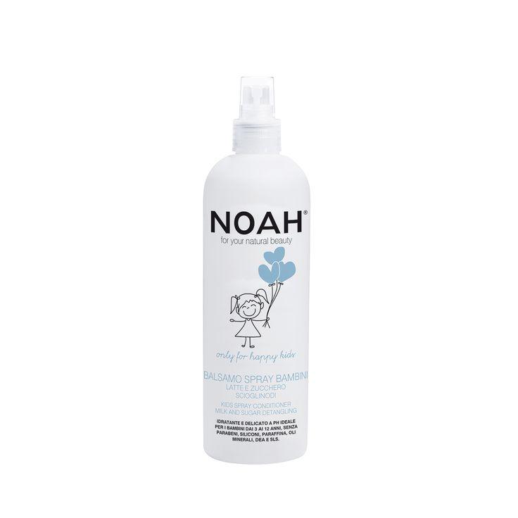 Balsamo Spray scioglinodi idratante e delicato a ph per bambini da 3 a 12 anni NOAH