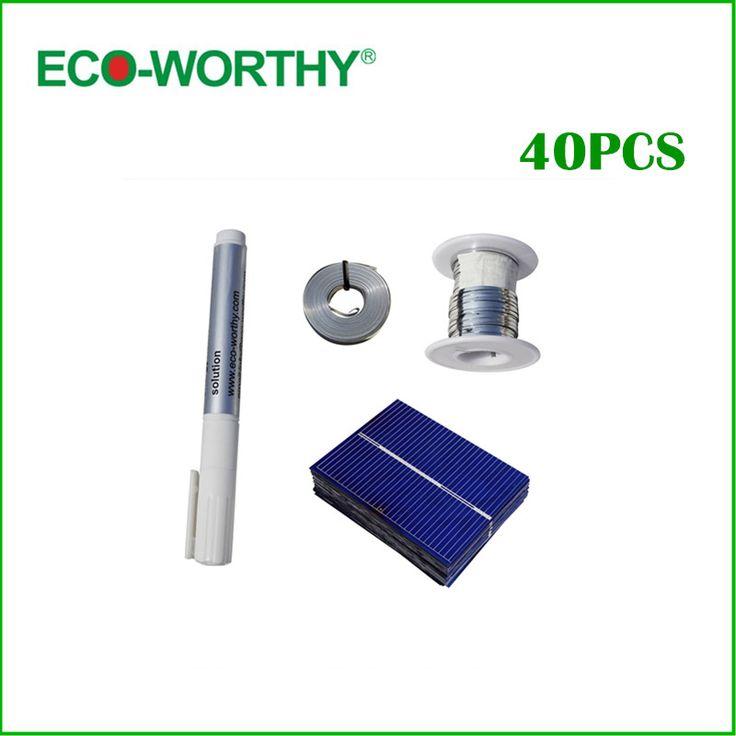 $17.15 (Buy here: https://alitems.com/g/1e8d114494ebda23ff8b16525dc3e8/?i=5&ulp=https%3A%2F%2Fwww.aliexpress.com%2Fitem%2F40pcs-polycrystalline-solar-cell-tab-wire-bus-wire-flux-pen-Free-shipping%2F1695988712.html ) 40pcs 52x38 Polycrystalline Cell Solar Cells Price Tabbing Wire Bus Wire Flux Pen for DIY 12V Solar Panel Free Shipping for just $17.15