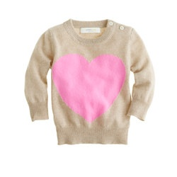Collection cashmere baby sweater in heart me