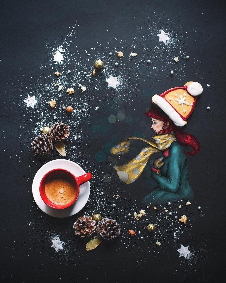 """3.720 Likes, 89 Kommentare – Cinzia Bolognesi (Cinzia Bolognesi) auf Instagram: """"Hallo Dezember! #littlecoffeestories Wie seid ihr Freunde? Ich bin in einem o …"""