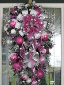 Como hacer una corona para la puerta Navidad