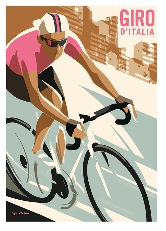 "madaboutbike: ""GIRO De Italia advert "" #vintagebicycles"