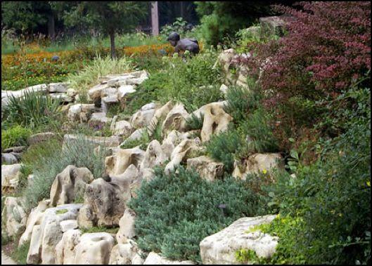94 best garden images on pinterest for Sloped rock garden designs