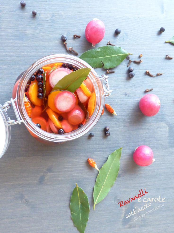 #ravanelli #carote in barattolo