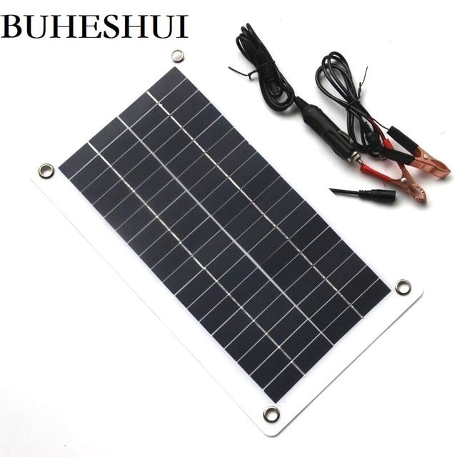Buheshui Semi Flexible 10w 18v 12v Portable Solar Panel Charger With Dc 5521 Cable For 12v Car Boat Moto Portable Solar Panels Solar Panel Charger Solar Panels