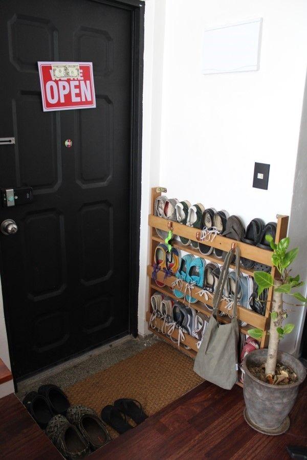 좁은 현관에 슬림한 신발장 DIY narrow shoes rack