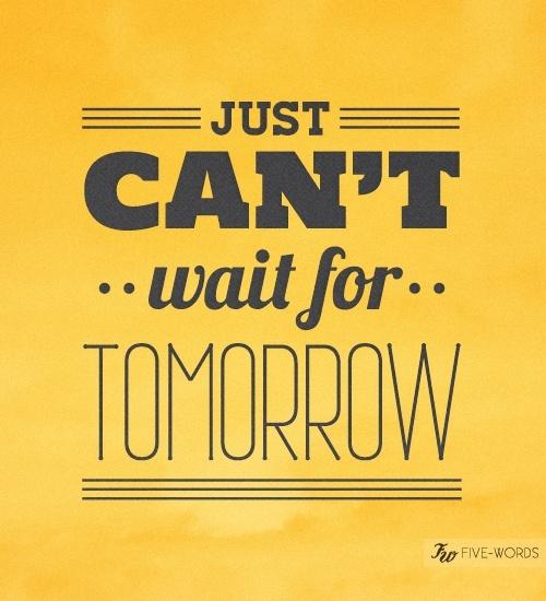 Le Decorazioni di Glee - Just can't wait for tomorrow..