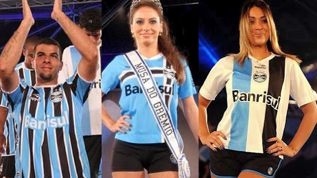 Gremio - again, proof that footy shirts suit females more than men!
