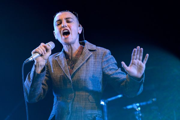 Sinead O'Connor performs in Newport, Isle of Wight.