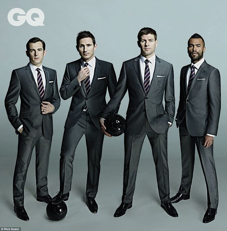 Looking good: Three Lions stars (from left to right) Leighton Baines, Frank Lampard, Steven Gerrard and Ashley Cole will all be hoping to we...
