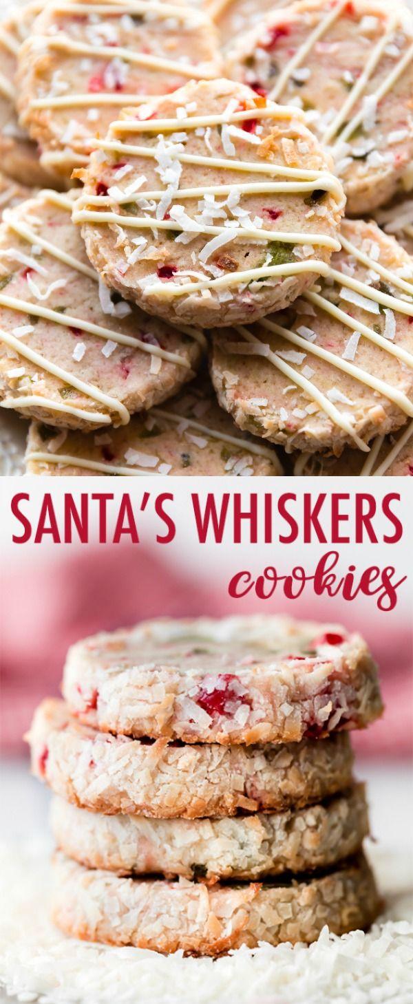 The Merriest Of All Christmas Cookies Santa S Whiskers Cookies Are