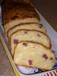 Casatiello is an Italian bread filled with meat and cheese