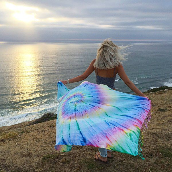 SAND CLOUD DONATES 10% OF NET PROFITS TO PRESERVE MARINE LIFE. This Tie-Dye towel will be the grooviest towel at...