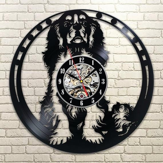 Best Original Wall Clock Made Of Vinyl Record Which Will Definitely Make Everyone Fall In Love With Your Place Clo Dog Wall Art Wall Clock Vinyl Record Clock