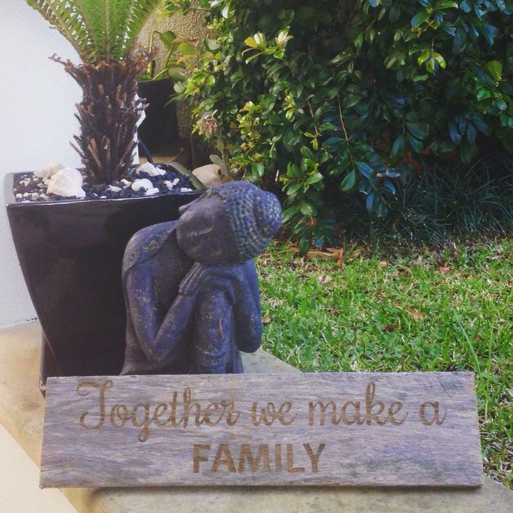 Laser Engraved Wooden Sign  Together we make a family  Make great gifts for friends and family