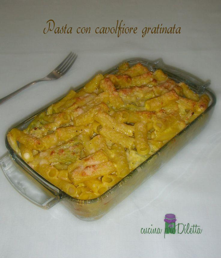 Pasta con cavolfiore gratinata - ricetta | cucina preDiletta