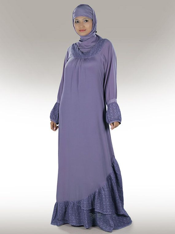 Elegant Naajneen Purple Abaya/Jilbab AY183 Formal and by MyBatua, $77.70