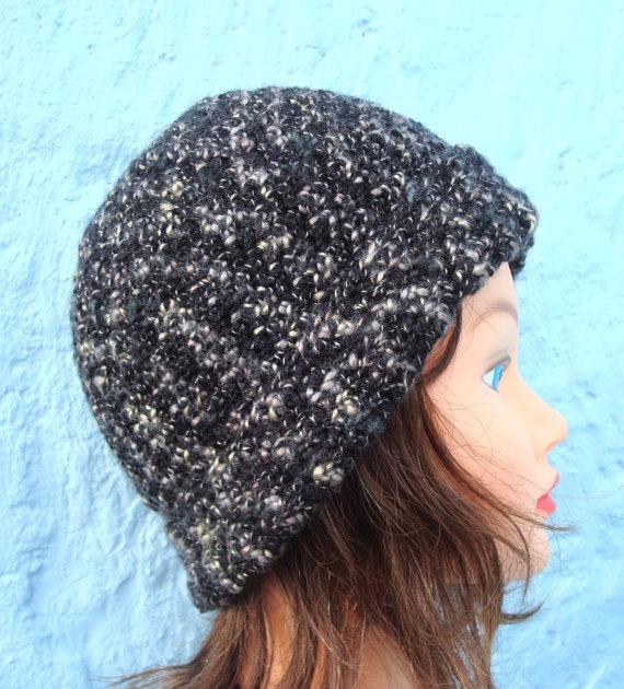 Black Crochet Hat Womens Hat Beanie Hat Handmade in Ireland. $25.00, via Etsy.