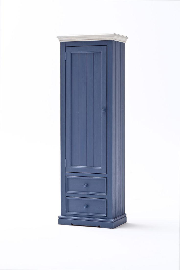 Garderobenschrank LaMer I Brilliantblau Passend zum Möbelprogramm LaMer 1 x Garderobenschrank links mit 1 Tür 2 Schubkästen und 1 Kleiderstange Maße:...