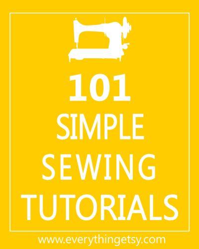101 Simple Sewing Tutorials 1