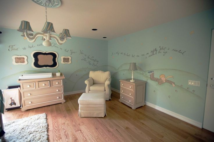 Little prince inspired nursery