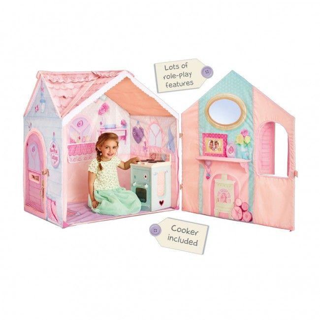 Traumhaus - Spielzelt für Kinder inkl. Spielherd mit Mädchen