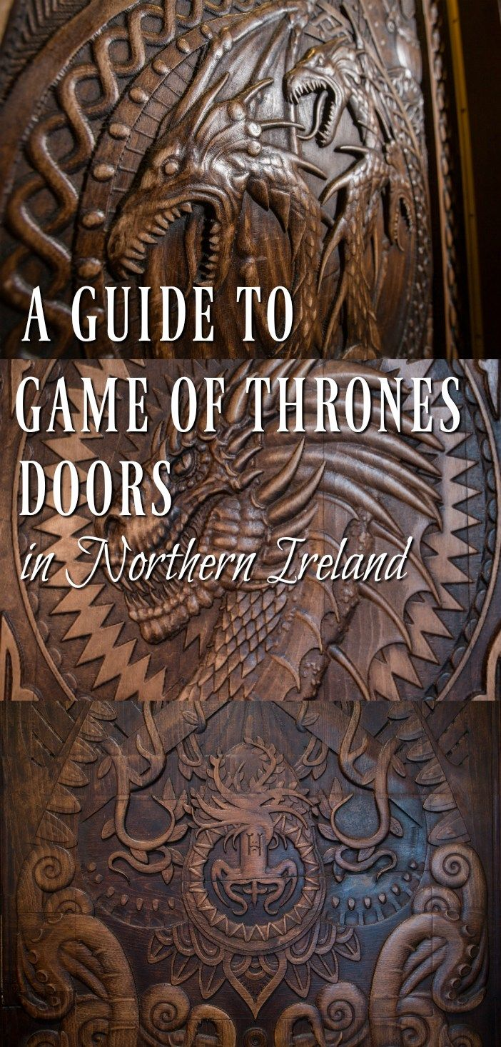 The Game of Thrones doors were made from the fallen trees of the Dark Hedges in Northern Ireland following a storm. This is a travel guide to seeing all of them from The Fairytale Traveler.