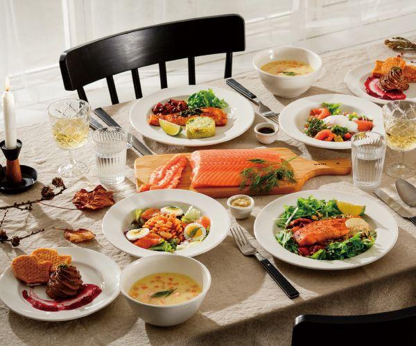 「サーモンフェア」イケアレストランでは、秋の味覚サーモンを堪能できる、サーモンづくしのコース料理をご用意しました。  #IKEA #IKEA #イケアレストラン #キャンペーン #サーモンフェア