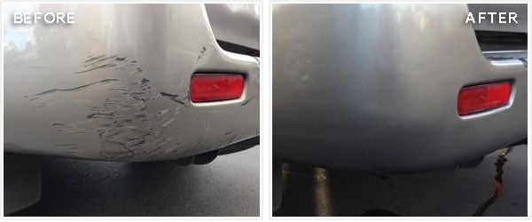 how to fix scratches on car bumper