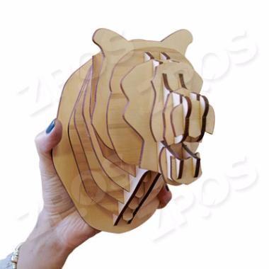 Объемная голова медведя