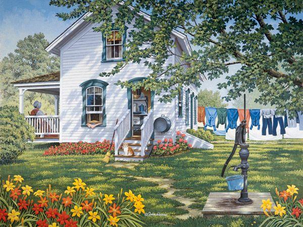 260 Best Art Cottages Cabins Houses Images On Pinterest