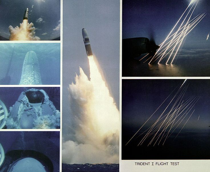Trident missile | submarine-launched ballistic missile (SLBM) equipped with multiple independently targetable reentry vehicles (MIRV)| Originally developed by Lockheed Missiles and Space Corporation, the missile armed with thermonuclear warheads and is launched from nuclear-powered ballistic missile submarines (SSBNs).