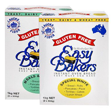 Laucke Easy bakers, has 2 gluten free bread mixes.  Endorsed by Coeliac Australia.